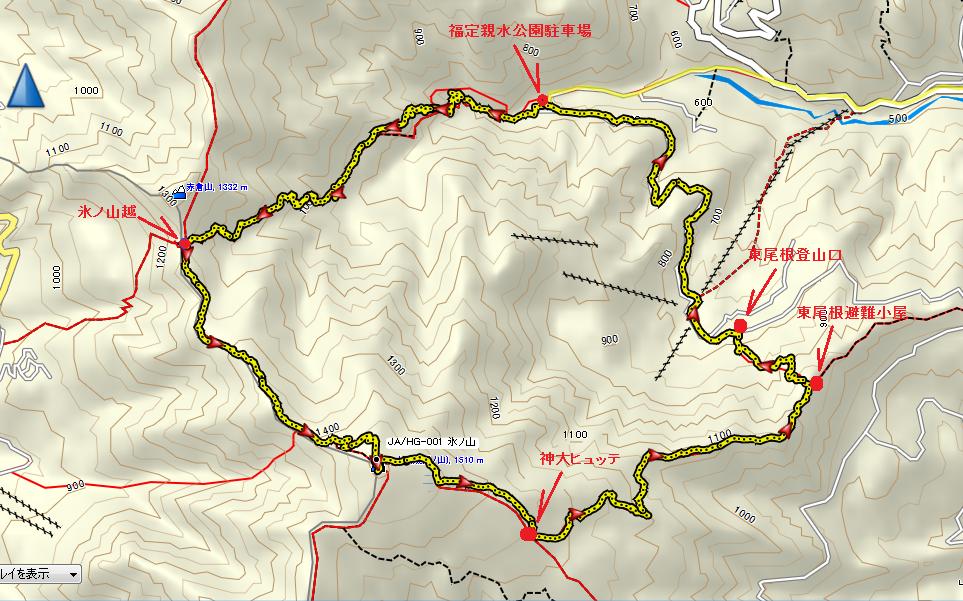 2017氷ノ山/地図