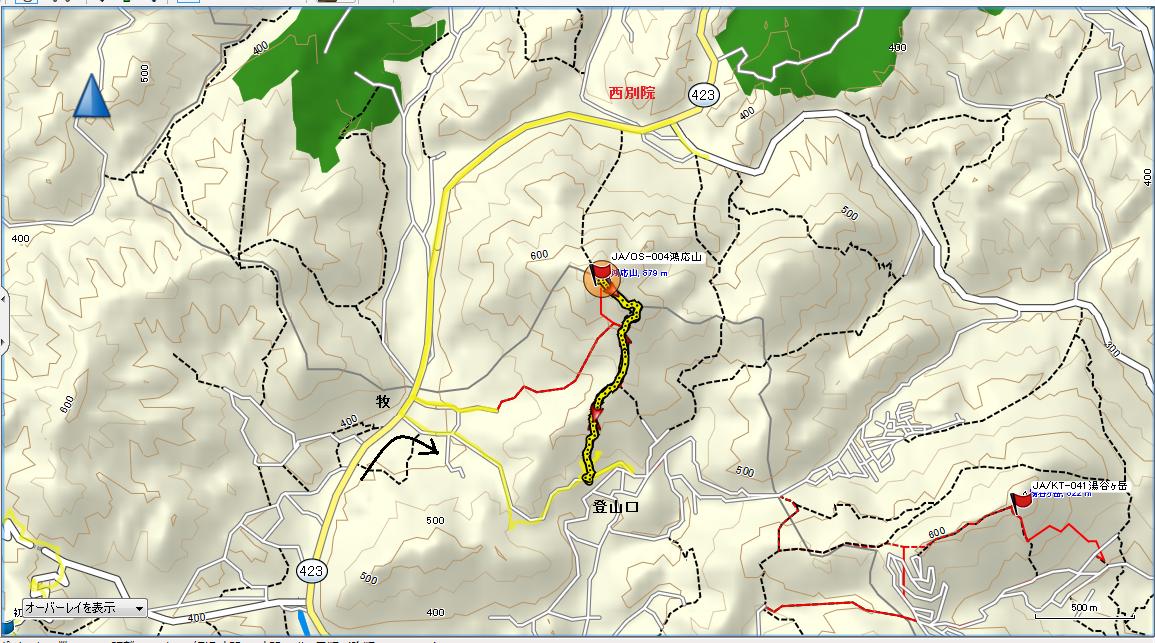 2016鴻応山/地図