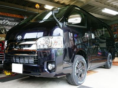 """トヨタ・ハイエース スーパーGL""""DARK PRIME"""" ダークプライム 《中部地区のカーセキュリティ販売取付店・パンテーラ・ゴルゴ・クリフォード正規ディーラーです。》200系"""