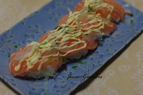 オニオンサーモン寿司170913