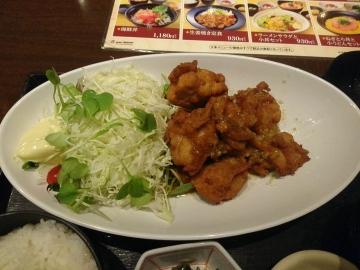カッパ・クリエイト 北海道 油淋鶏定食03 201703