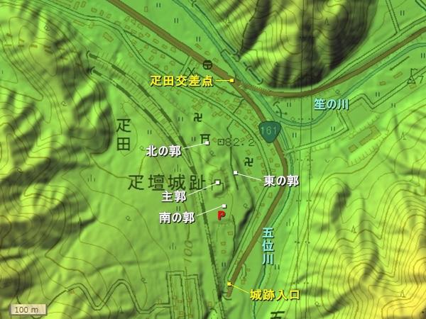 疋壇城地形図