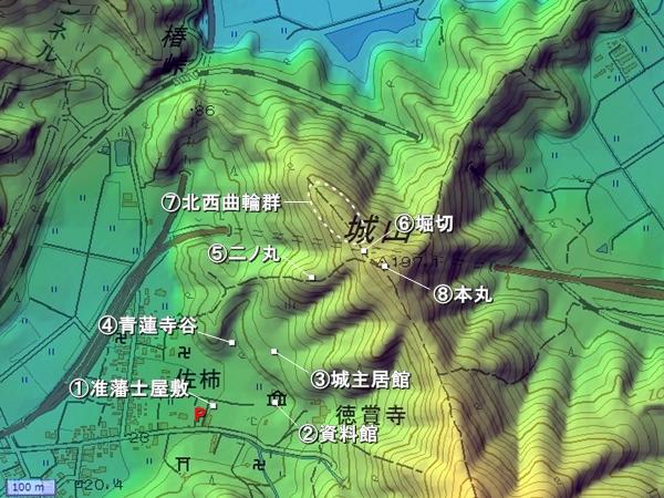 国吉城地形図