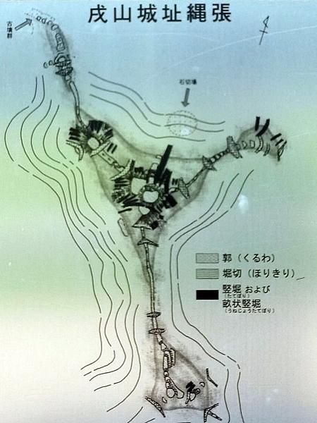 戌山城_縄張