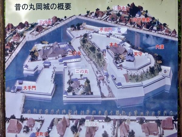 丸岡城復元図