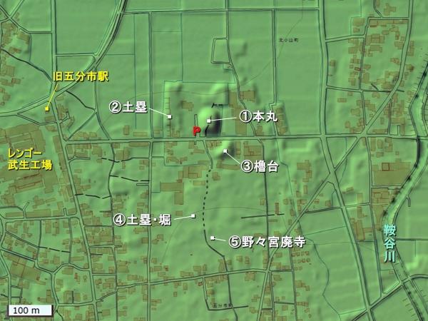 小丸城地形図