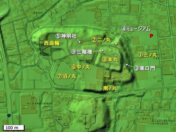 白石城地形図