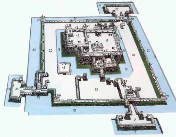 篠山城復元図
