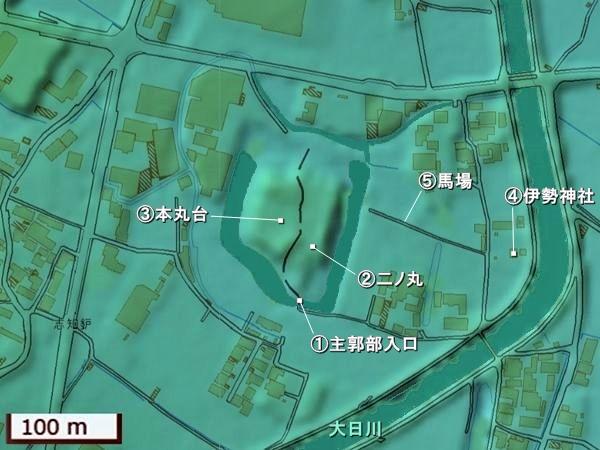 志知城地形図