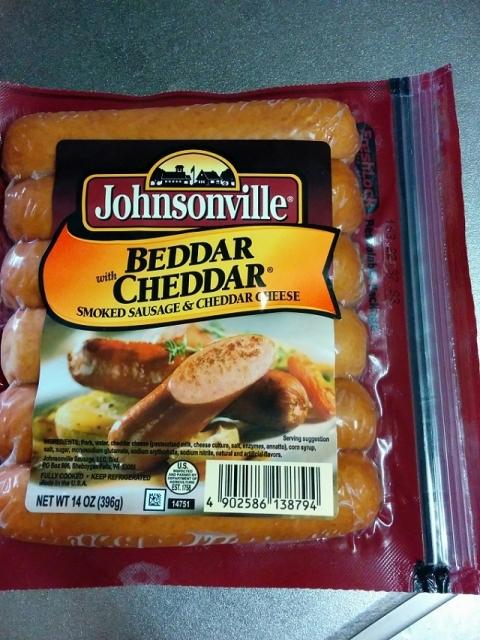 アメリカ産ジョンソンビル ソーセージ チェダーチーズ1