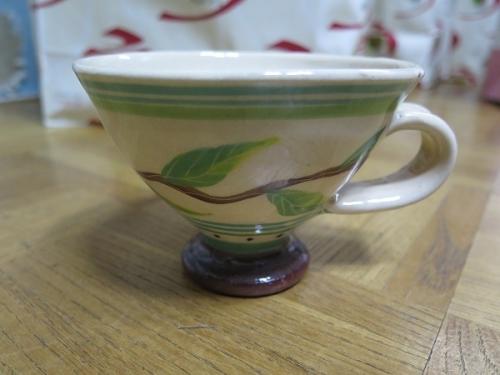 南島焼さんで買った物 ルリタマアザミのカップ