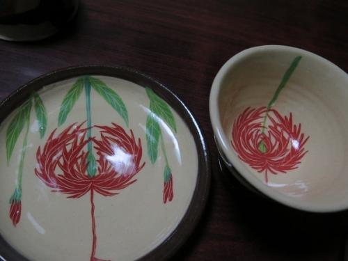 南島焼さんで買った物 フウリンブッソウゲのカップ&ソーサー