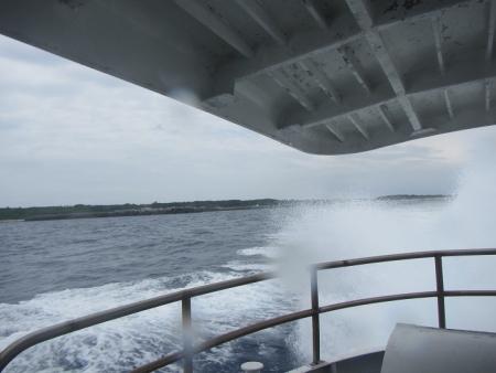波照間から高速船