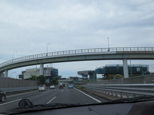 東京から帰る道