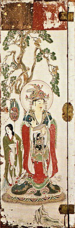 明治期に流出した吉祥天厨子の後壁・扉絵(東京芸術大学所蔵)~梵天像