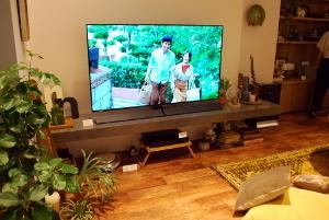 テレビ中心の風景
