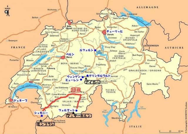 0スイス地図(3日目)