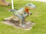 えちぜん鉄道勝山駅 フクイサウルス像 子供?