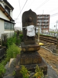 名鉄奥田駅 駅前の踏切地蔵