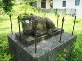 JR西金駅 小室順太郎翁胸像 隣の馬の像