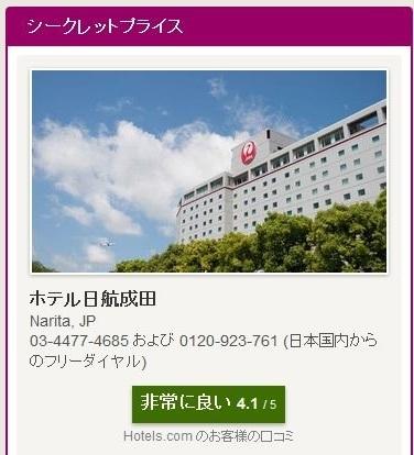 Rewards利用ホテル日航成田 03-a