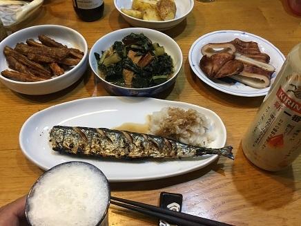 8302017 秋刀魚晩酌S