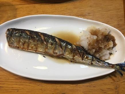 9032017 晩酌秋刀魚S2