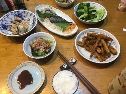 9092017 Dinner 炙りサンマごぼ天S