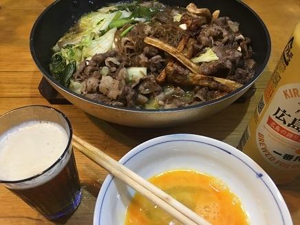 9162017 夕食すき焼S