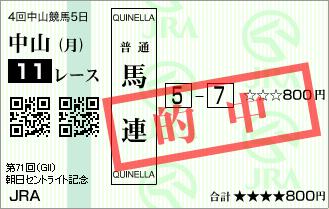 セントライト記念_的中2