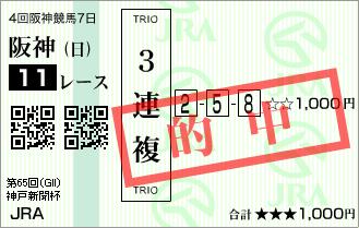 神戸新聞杯_的中1