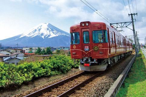 登山電車月江寺~富士山