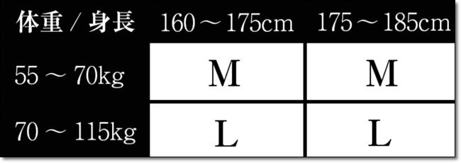 VIDAN サイズ表
