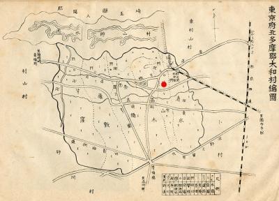 前野稲荷位置図