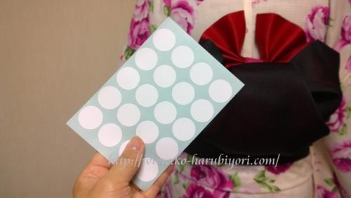 浴衣の創作帯結び●リボン結び(りぼん返し)から作る簡単な帯マウス(ミニーちゃん)●ドット用シール