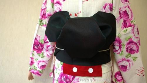 浴衣の創作帯結び●リボン結び(りぼん返し)から作る簡単な帯マウス(ミッキーマウス)