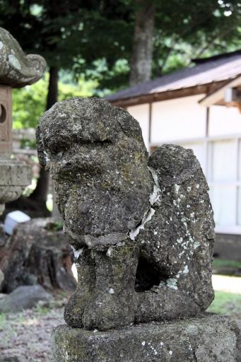 御机神社の狛ワンコ