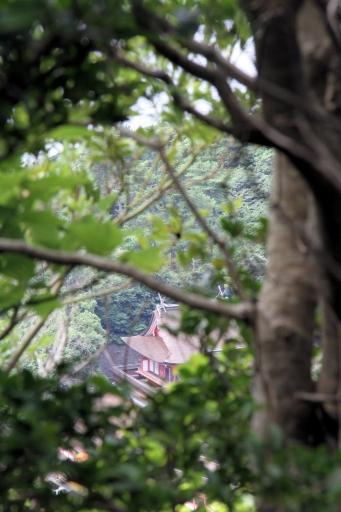 天一山から見た日御碕神社
