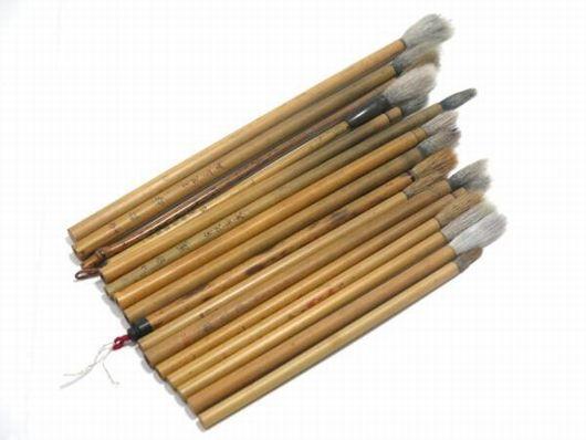 古筆 中国筆 など 16本 まとめて 書道具