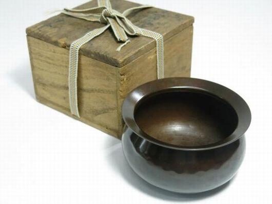 中川浄益造 銅製 建水