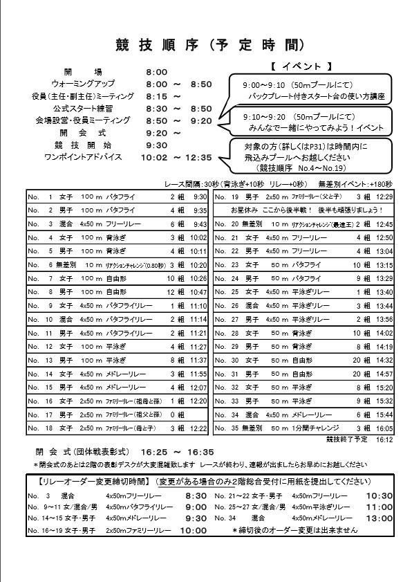 2017プログラム 競技時間