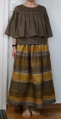 naniIROリネンロングスカート