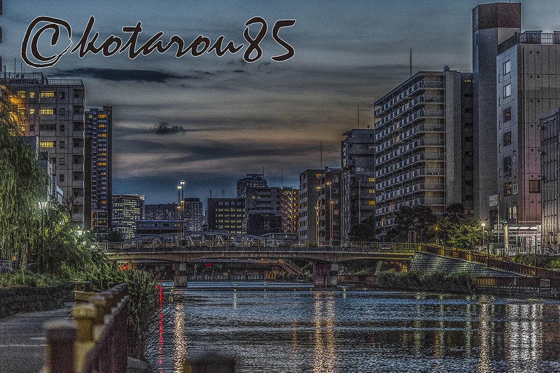 小名木川の夕暮れ 20170712