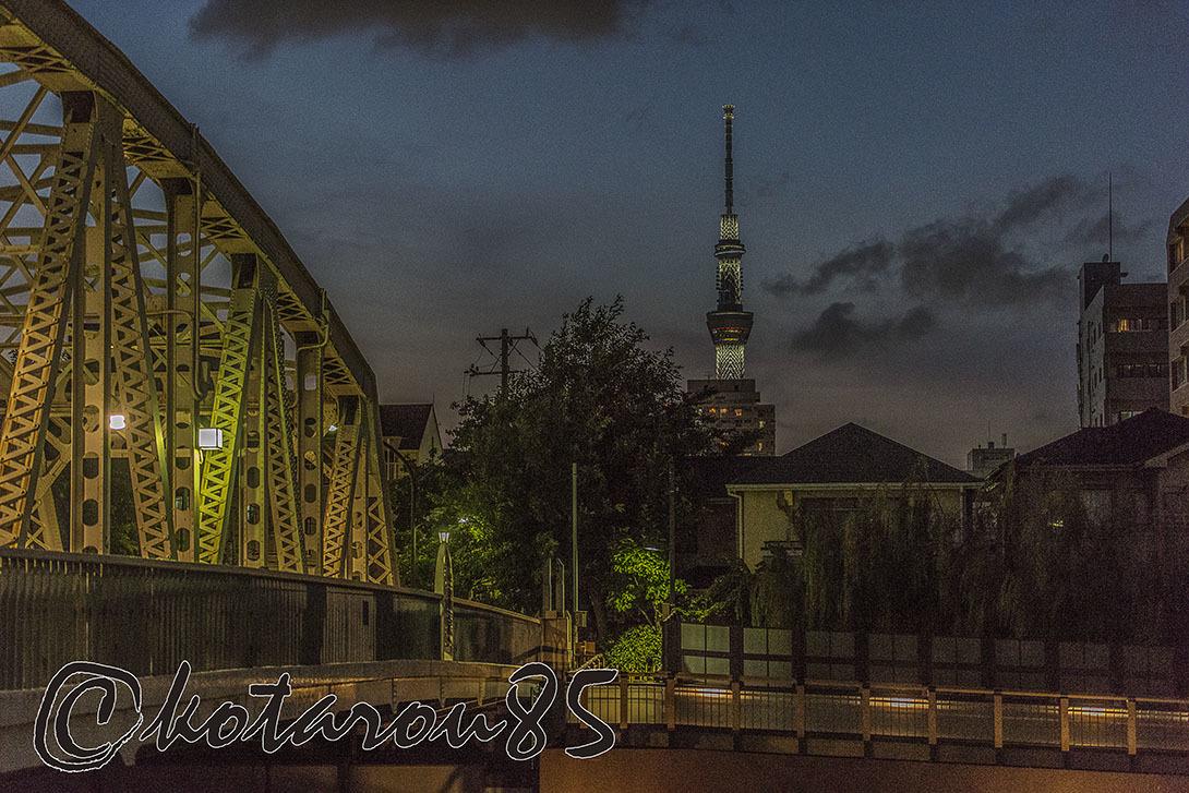橋のある街のスカイツリー 20170712