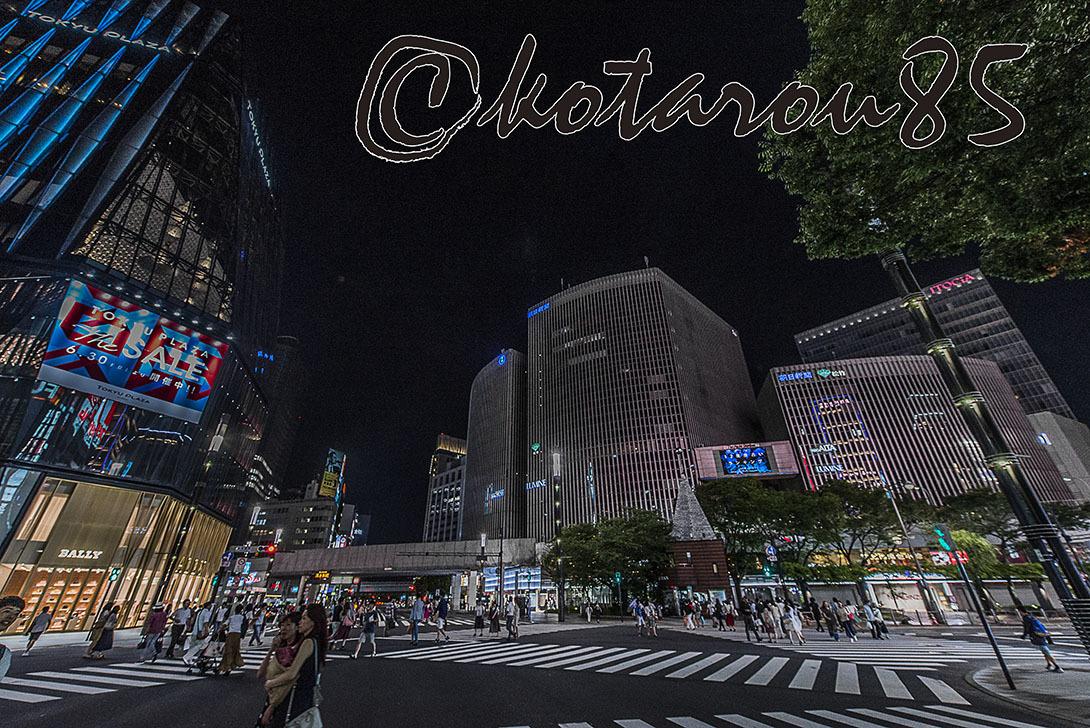 熱帯夜の数寄屋橋交差点3 20170717