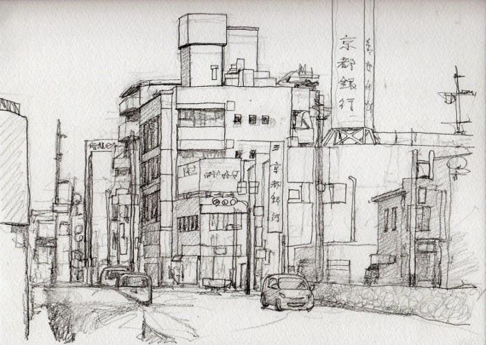 寝屋川市駅前 デッサン (700x497)