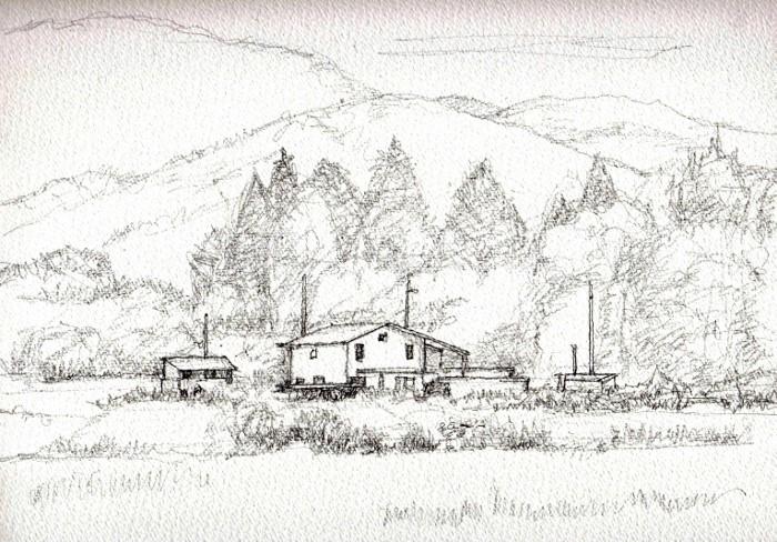 亀岡の風景 デッサン (700x488)