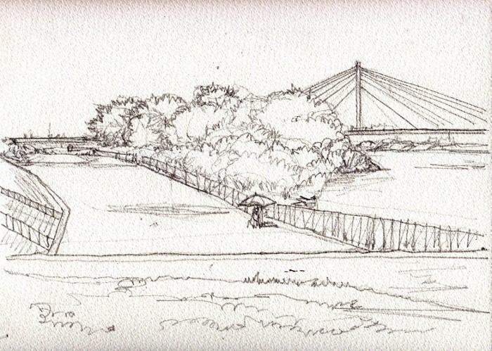 淀川の散歩道 デッサン (700x499)