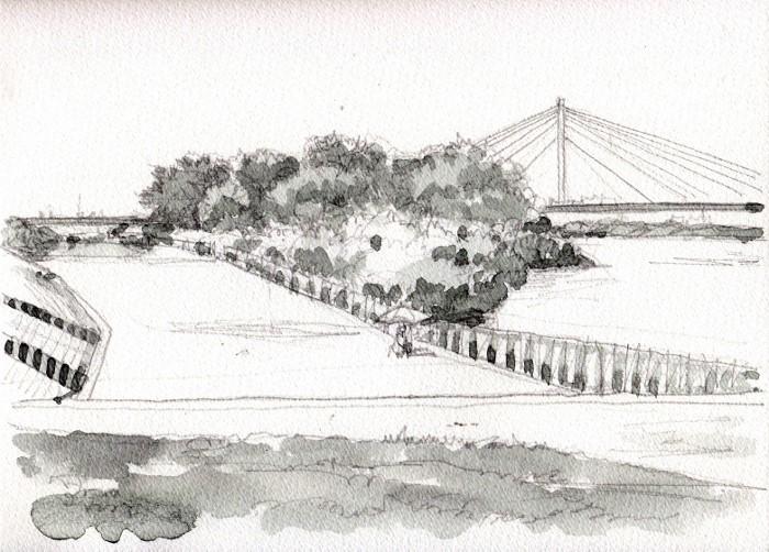 淀川の散歩道 グリザイユ (700x502)