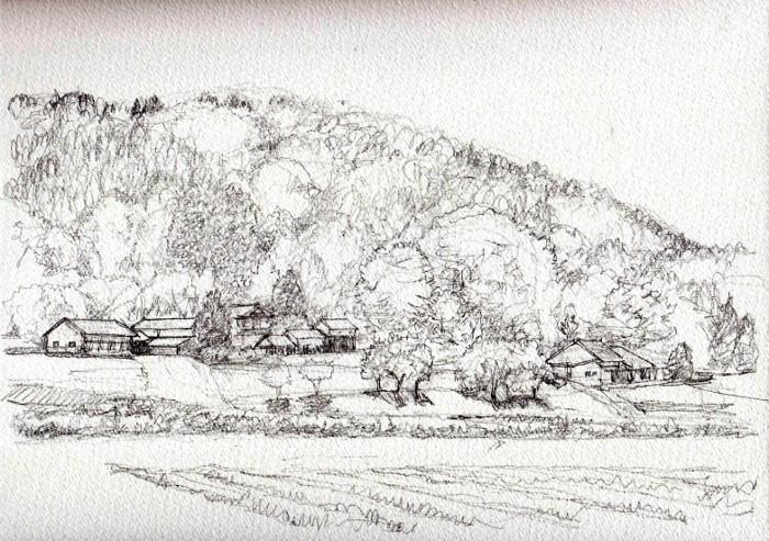 兵庫の里山2 デッサン (700x493)